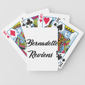 Bernadette return bicycle playing cards