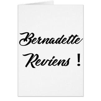 Bernadette return card