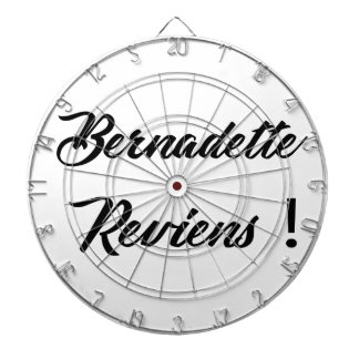 Bernadette return dartboard