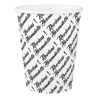 Bernadette return paper cup