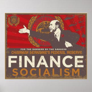 Bernanke's Finance Socialism Poster