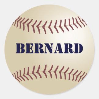 Bernard Baseball Sticker / Seal