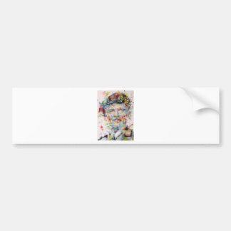 bernard montgomery - watercolor portrait bumper sticker