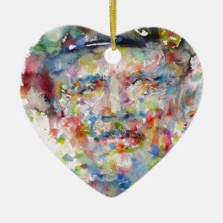 bernard montgomery - watercolor portrait ceramic ornament