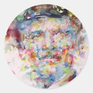 bernard montgomery - watercolor portrait classic round sticker