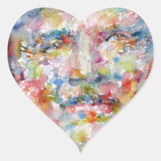 bernard montgomery - watercolor portrait heart sticker