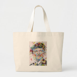 bernard montgomery - watercolor portrait large tote bag
