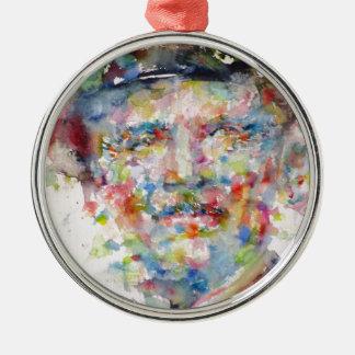 bernard montgomery - watercolor portrait metal ornament