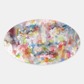bernard montgomery - watercolor portrait oval sticker