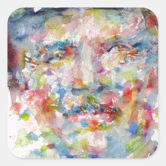 bernard montgomery - watercolor portrait square sticker