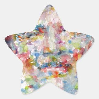 bernard montgomery - watercolor portrait star sticker