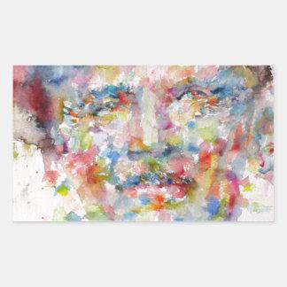 bernard montgomery - watercolor portrait sticker