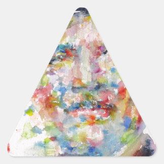 bernard montgomery - watercolor portrait triangle sticker