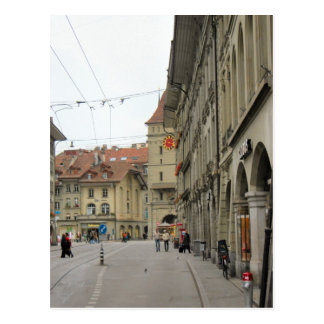 Berne old city - Arcades and clocktower Postcard
