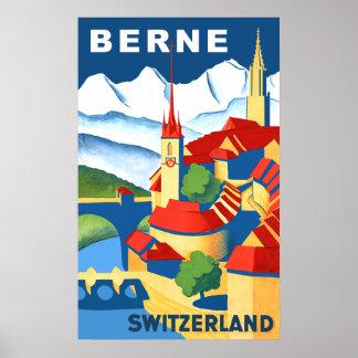 Berne, Switzerland travel poster