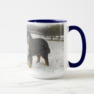 Berner in the Snow Mug