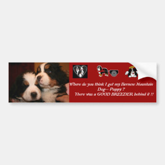 Berner Puppy- BUMPERS Bumper Sticker