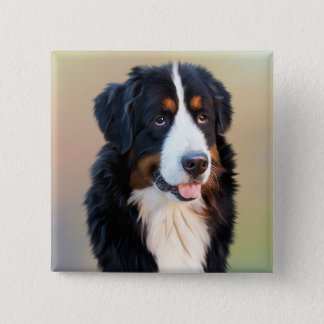Berner Sennenhund 2 Inch Square Button