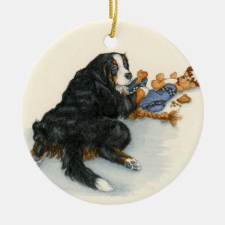 Berner with stocking ceramic ornament