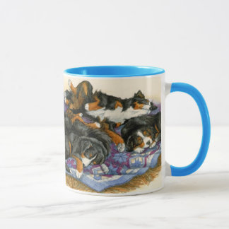 Berners on a Quilt Mug