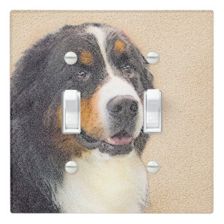 Bernese Mountain Dog 2 Light Switch Cover