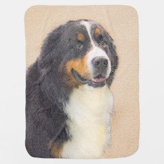 Bernese Mountain Dog 2 Painting - Original Dog Art Baby Blanket