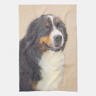 Bernese Mountain Dog 2 Painting - Original Dog Art Kitchen Towel