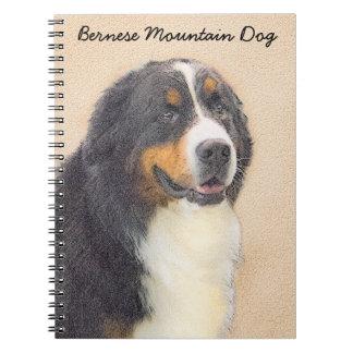 Bernese Mountain Dog 2 Painting - Original Dog Art Notebook