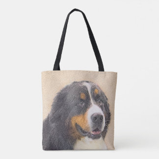 Bernese Mountain Dog 2 Painting - Original Dog Art Tote Bag