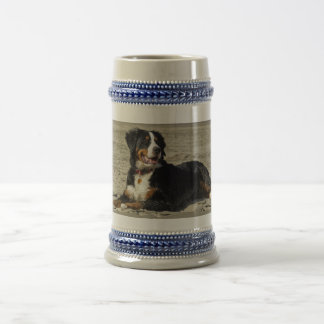Bernese Mountain dog beautiful photo tankard, stei Beer Stein