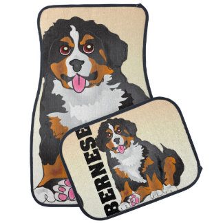 Bernese mountain dog breed car floor mats