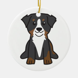 Bernese Mountain Dog Cartoon Ceramic Ornament