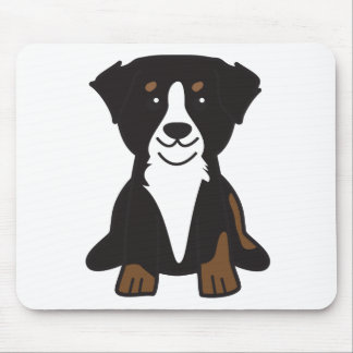 Bernese Mountain Dog Cartoon Mouse Pad