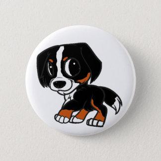 bernese mountain dog cartoon rust 2 inch round button