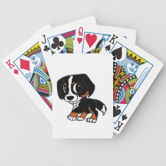 bernese mountain dog cartoon rust bicycle playing cards