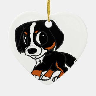 bernese mountain dog cartoon rust ceramic ornament