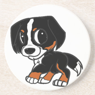 bernese mountain dog cartoon rust coaster