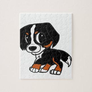 bernese mountain dog cartoon rust jigsaw puzzle