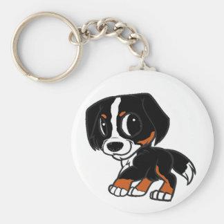 bernese mountain dog cartoon rust keychain