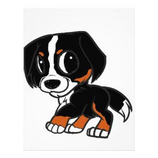 bernese mountain dog cartoon rust letterhead
