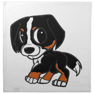 bernese mountain dog cartoon rust napkin