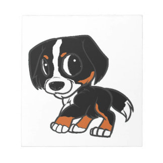 bernese mountain dog cartoon rust notepad