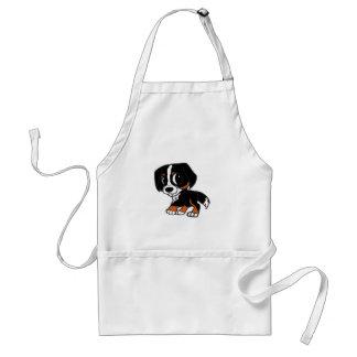 bernese mountain dog cartoon rust standard apron