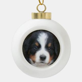 Bernese Mountain Dog Ceramic Ball Christmas Ornament