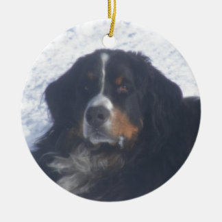 Bernese Mountain Dog Ceramic Ornament