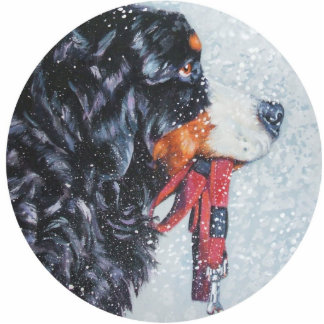 bernese mountain dog Christmas Ornament Photo Sculpture Ornament