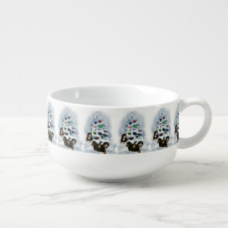 Bernese Mountain Dog Christmas Soup Mug