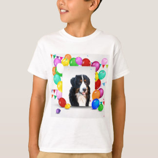 Bernese Mountain Dog Colorful Balloons Birthday T-Shirt