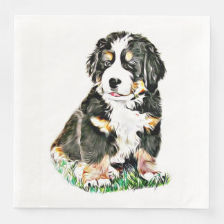 Bernese Mountain Dog Disposable Napkins