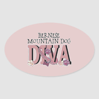Bernese Mountain Dog DIVA Oval Sticker